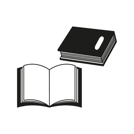 A book icon on the white background Imagens - 127527815
