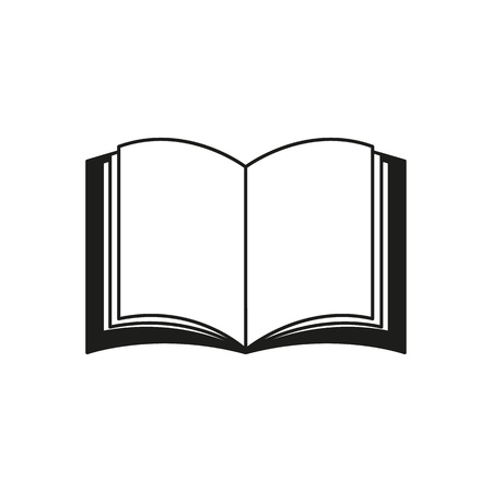 A book icon on the white background Standard-Bild - 127527816
