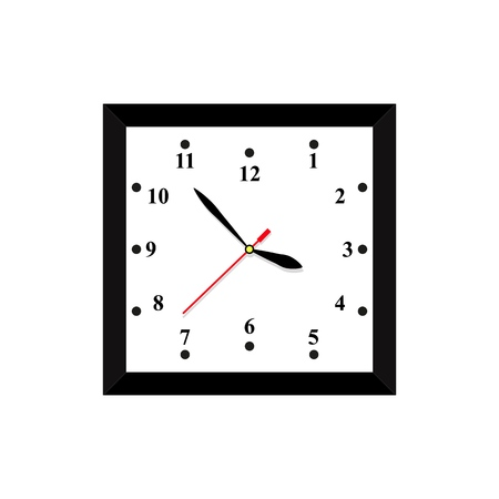 A clock icon in color time on the white background