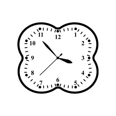 A clock icon in outline time minute