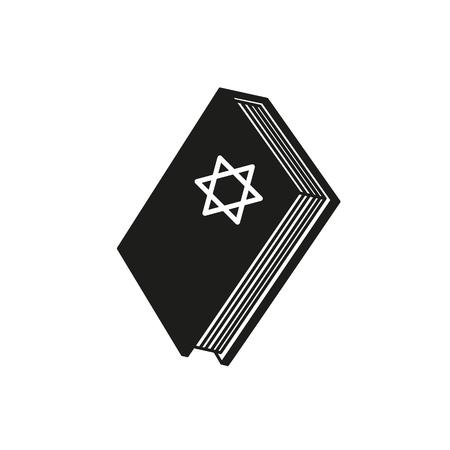 A book of Hanukkah icon star holiday