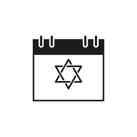 Calendar Hanukkah the holiday day of icon