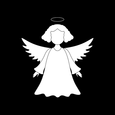 A christmas angel icon on the white background Standard-Bild - 127414025