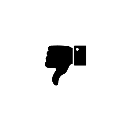 Dislike,bad work icon black on tghe white background