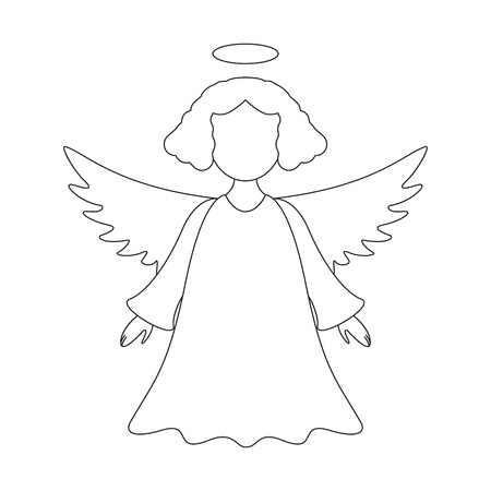 A christmas angel icon on the white background Standard-Bild - 127385151