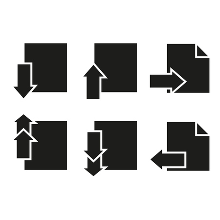 Set of pages icons paper letter on the white background Imagens - 127385153