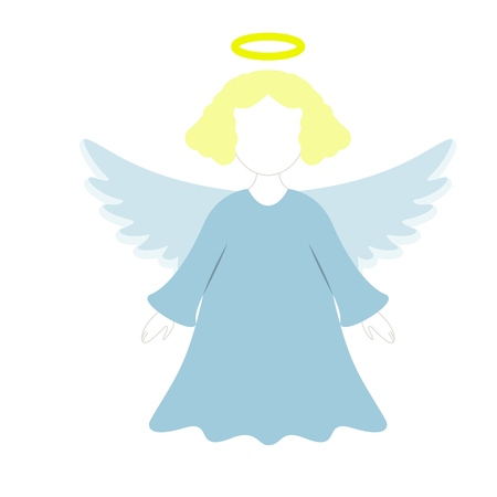 A Christmas angel of icon in the color