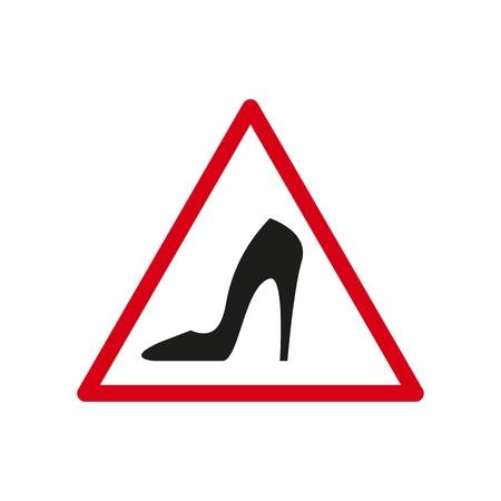 Sign of a dangerous the heel icons Ilustração