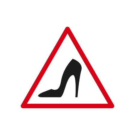 Sign of a dangerous the heel icons Illustration