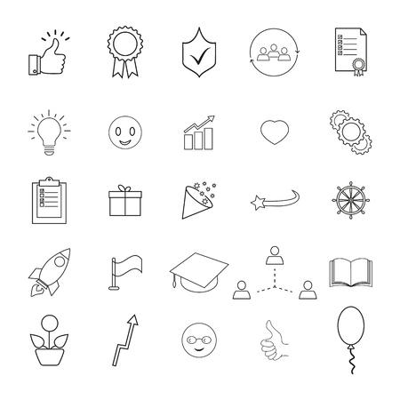 Set of bring up, the better result icons Ilustração