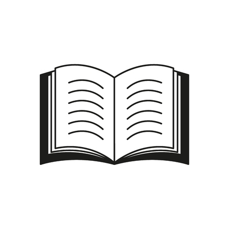 A book icon or a e-book read text on white background Standard-Bild - 126992328
