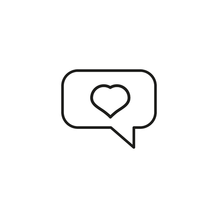 Message about love outline icon on white background Imagens - 126992330