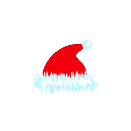 A Christmas hat of color icon holiday day on the white background Ilustração