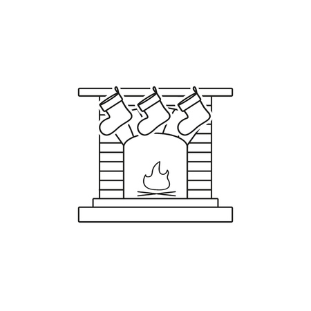 A fireplace,hearth,chimney,mantelpiece icon on the white background