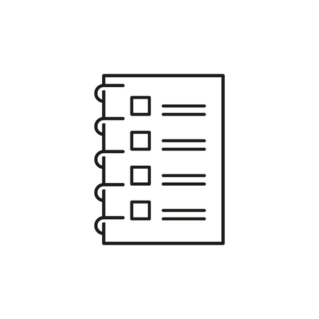 Checklist to do list icon on the white background