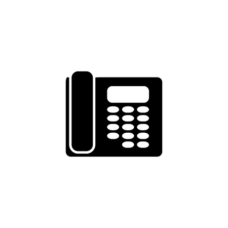 Telephone contact phone of icon the support Imagens - 127822557