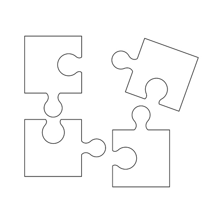 Puzzel of the icons good game skill Standard-Bild - 127822580