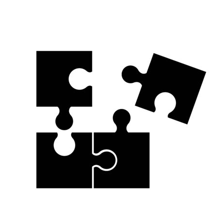 Puzzel of black icons good game skill Standard-Bild - 127822582
