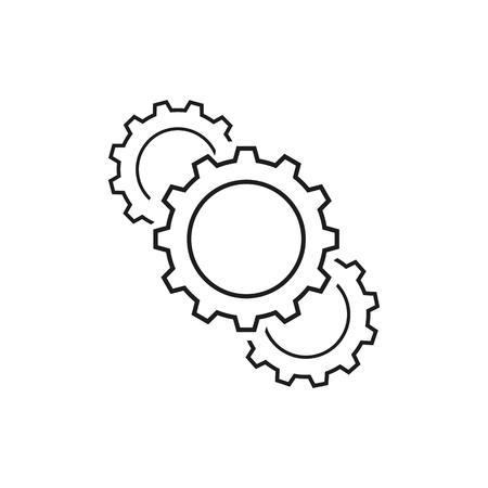 Set of cogwheels icons on white background Ilustração