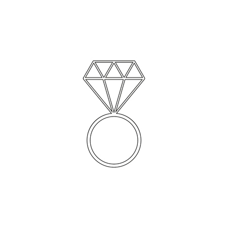 Wedding ring icons two on th white background