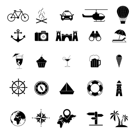 Set of Tour and travel outline icons trip Standard-Bild - 127648841