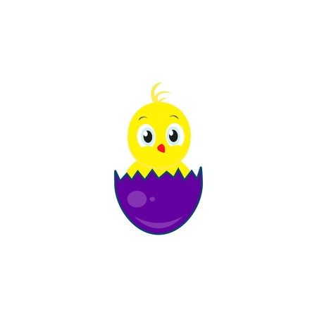 Happy easter an egg icon of chicken Illustration