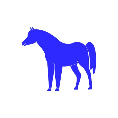 Horse icon in blue color the winner