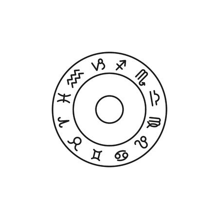 Set of Zodiac sign icons the horoscope Imagens - 127648866