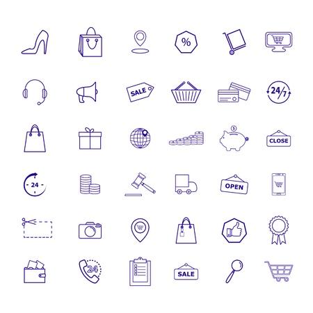 Set of Retail shop market trade icons Standard-Bild - 127648896