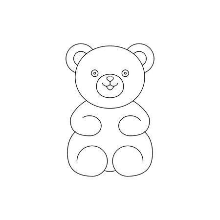 Bear teddy toy icon for baby gift Imagens - 127648900