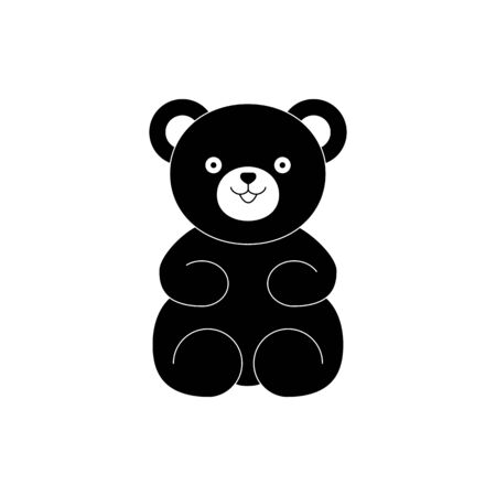 Bear teddy toy icon for baby gift