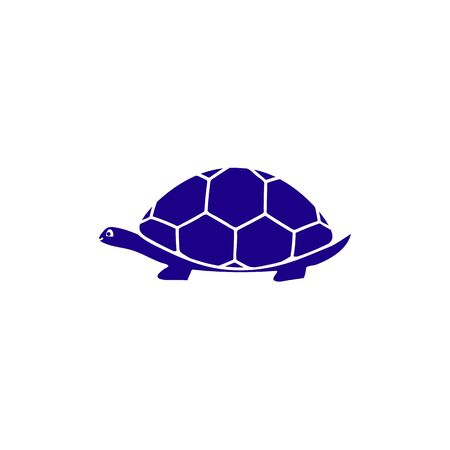 Turtle of line icon in blue color
