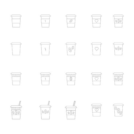Set of Coffee cup icons good morning