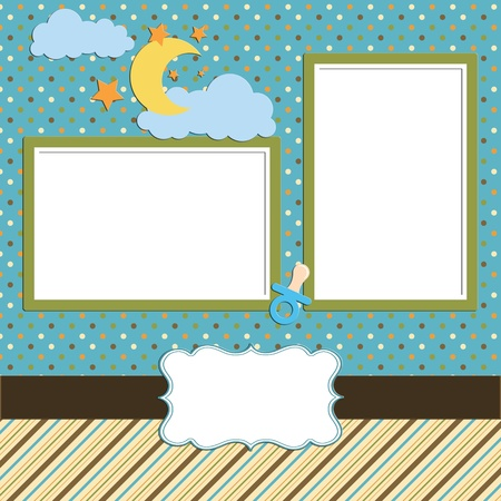 Baby scrapbook page Stock Photo