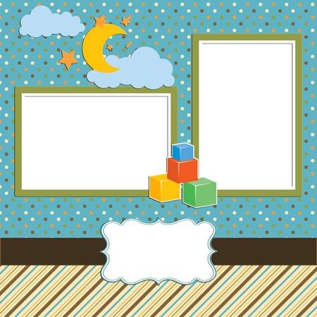 Baby - photo album - scrapbook page