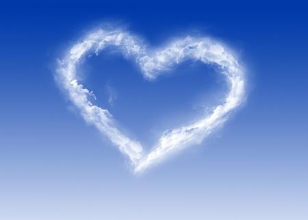Coeur de nuages ??- la Saint-Valentin - Love Banque d'images