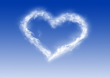 Heart of clouds - Valentines Day - Love Stock Photo