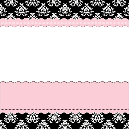 Baby Girl scrapbook page - Birth Announcement Stock Photo - 11989797