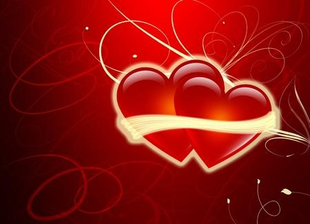 Deux coeurs - Saint Valentin - Amour