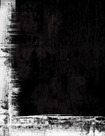 Fronti�re grunge texture de fond - noir et blanc Banque d'images