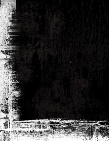 Grunge border frame background texture - black and white