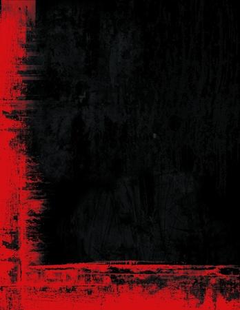 Grunge fronti�re cadre texture de fond - rouge et noir