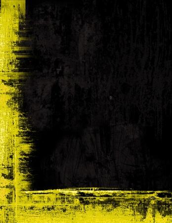 Grunge fronti�re cadre texture de fond - jaune