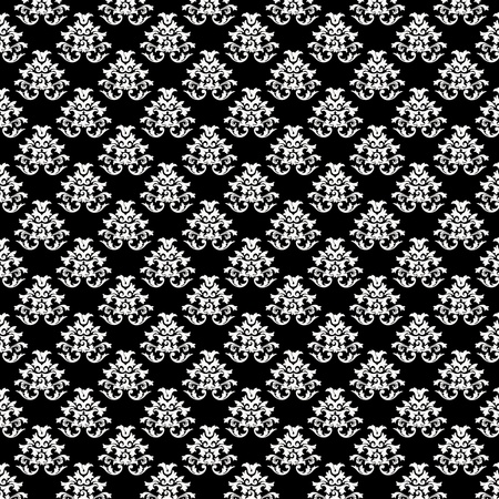 Baroque Background Pattern Texture - Black and White Stock Photo - 12509022
