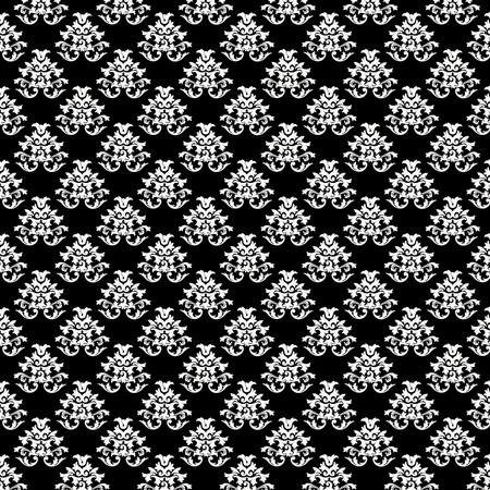 Texture baroque motif de fond - noir et blanc Banque d'images