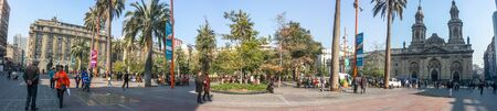 SANTIAGO, CHILE - July 23, 2013: The Plaza de Armas, the main square of Santiago, the capital of Chile