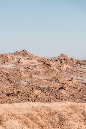 칠레 아타 카마 사막의 문 밸리 언덕
