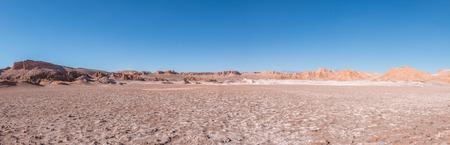 Dunes of Moon Valley in Atacama Desert, Chile 스톡 콘텐츠