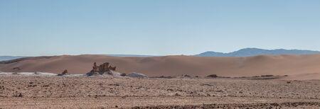 아타 카마 사막 - 칠레, 라틴 아메리카의 문 밸리의 소금 조각