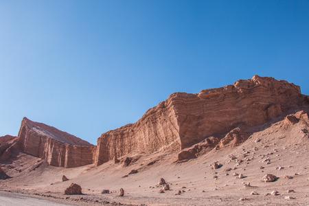 The amphitheater in Moon Valle near San Pedro de Atacama, Chile